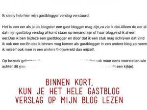 Gastblogger ik